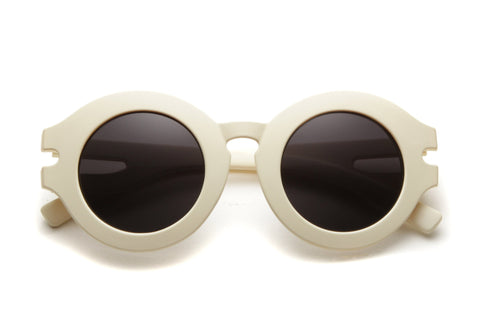 Chenoa Round Eyed Frame Matte Finished Sunglasses