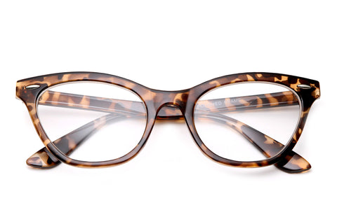 Vintage Cat Eye Clear Lens Glasses