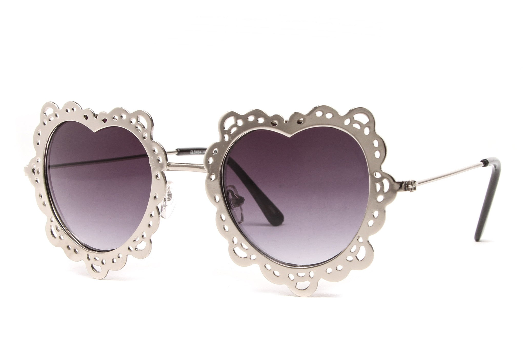 Charlotte Heart Cut Out Metal Sunglasses