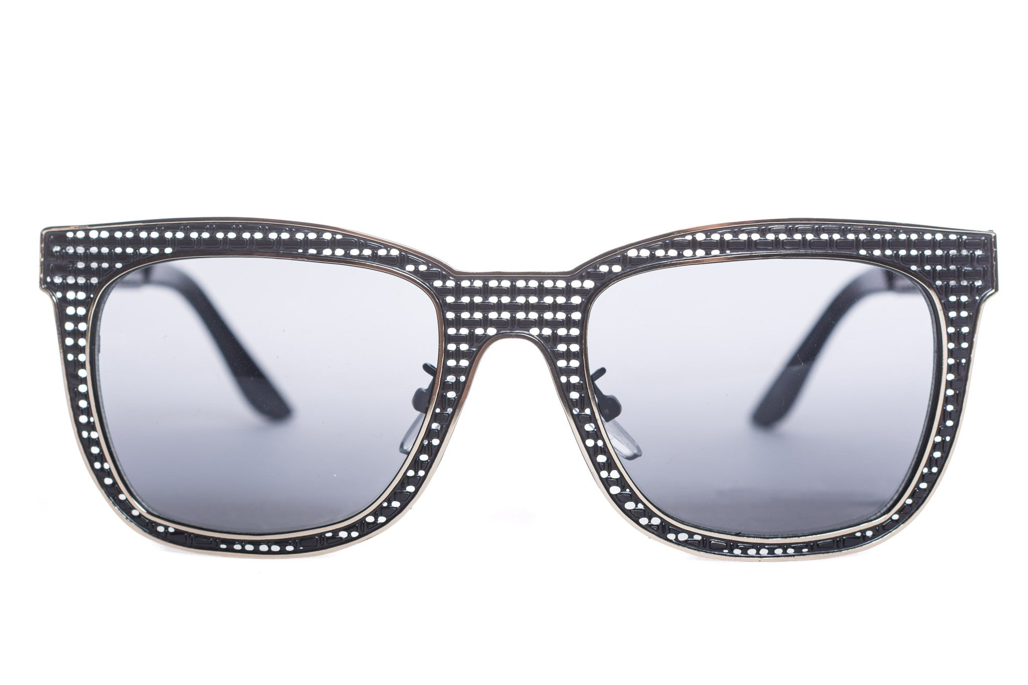 Henry Woven Square Metal Sunglasses