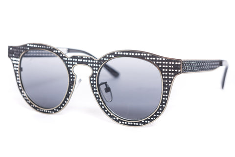 Oliver Woven Round Metal Sunglasses
