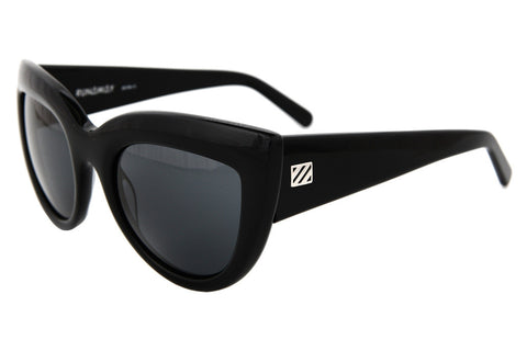 Runaway Sunglasses (Gloss Black/Grey)