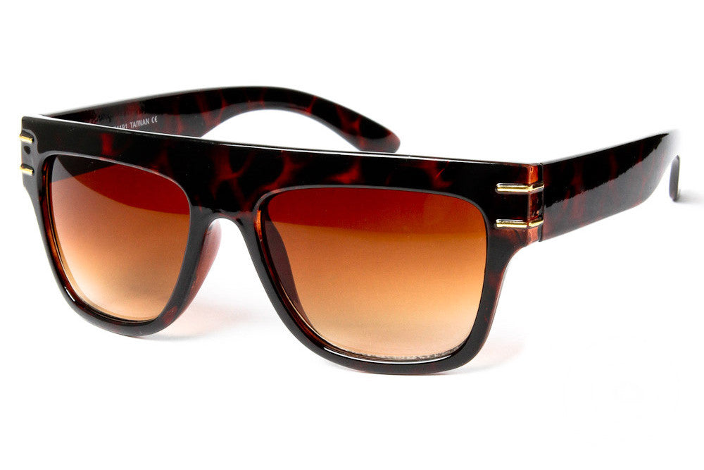 Brighton Flat Top Wayfarer Sunglasses