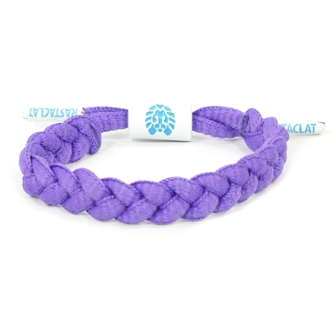 Napoleon Mini Braided Shoelace Bracelet (Purple/White)