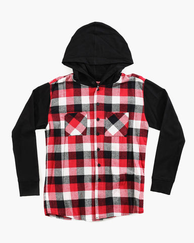 Flannel Terry Hoody