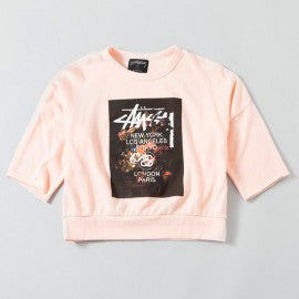 Floral S/S Crew (Pink)