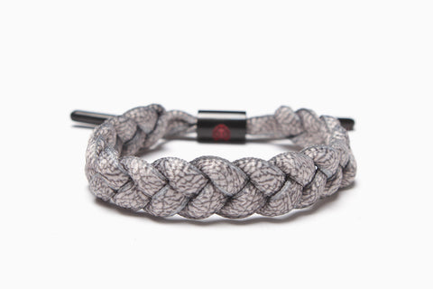 Elephant Grey Shoelace Bracelet (Elephant)