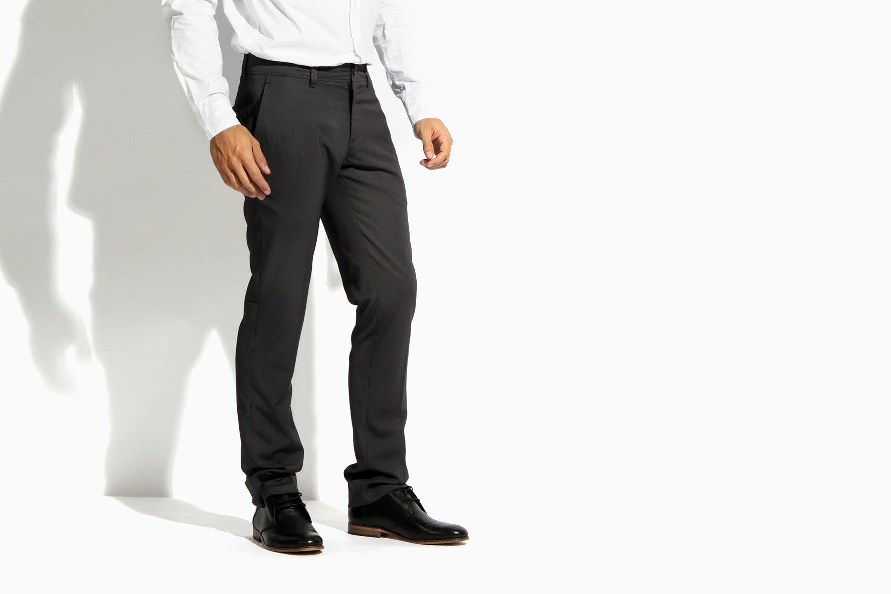 Men's The Finest Pinstripe Suit Pants (Fade To Black)