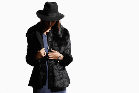 Women's Sasha Fur Coat (Black)