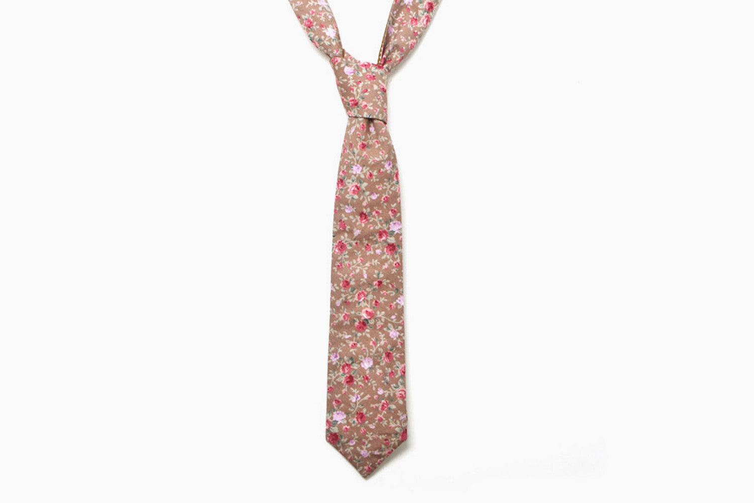 Hugh Reversible Neck Tie (Taupe/Tawny)