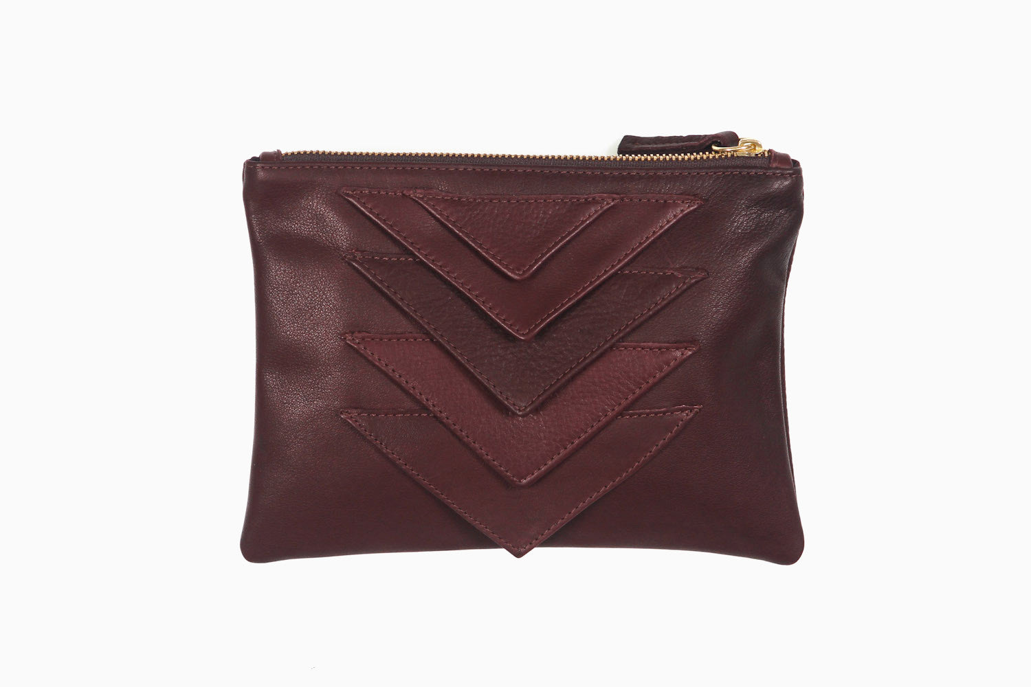 Ricco Duo Leather Pouch (Vino)