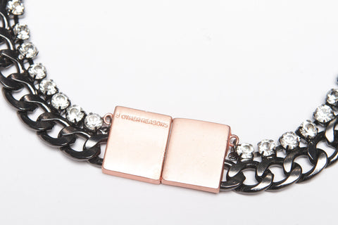 Survival Necklace (Gunmetal/Clear)