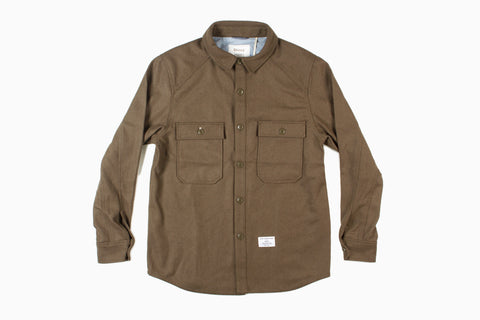 Holden x Stussy - Men's CPO Field Shirt (Melton Wool/Olive)