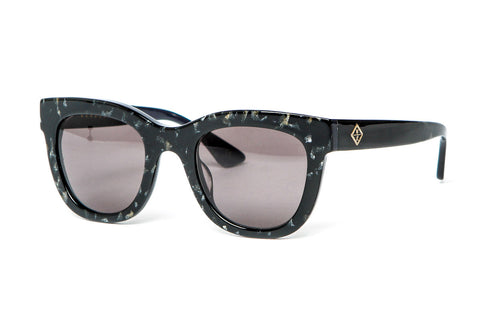 Wonderland x SCF - Colony Sunglasses (Black Gold Glitter/Grey)