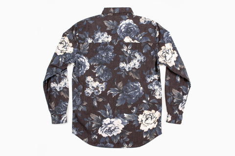 Men's Cheeba Cheeba L/S Shirt (Black Out Blue)