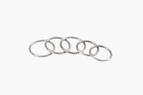 Petite Band Ring Set (Antique Nickel)