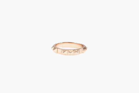 Full Punk Stud Ring (Rose Gold)