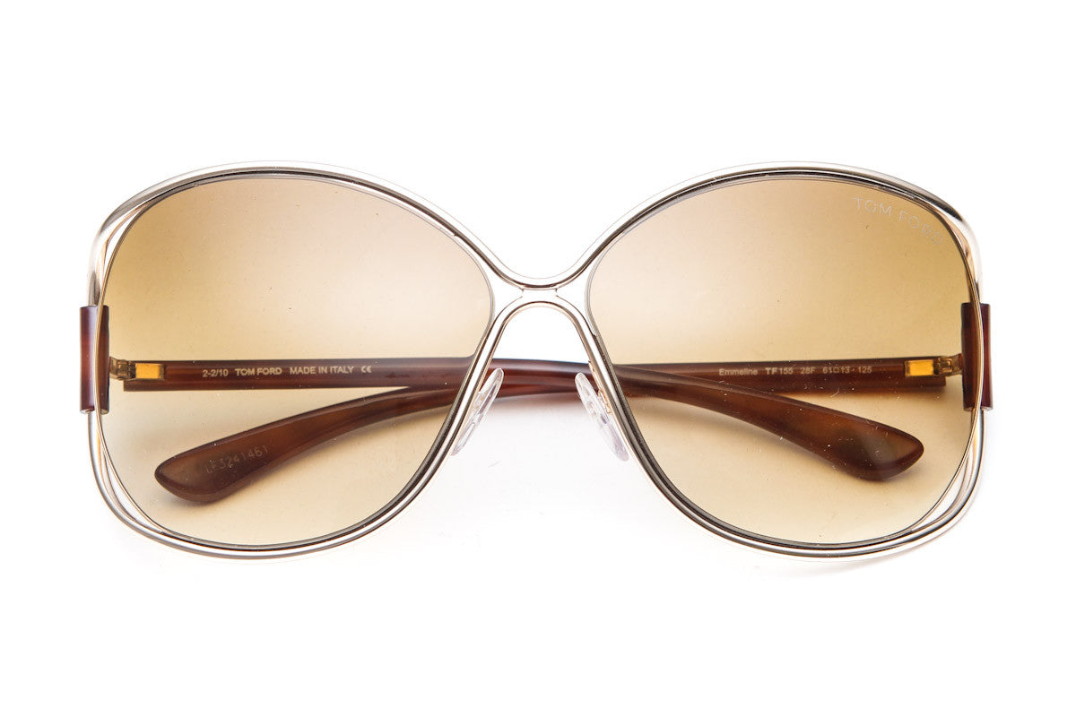 Emmeline Metal Butterfly Sunglasses (Gold)