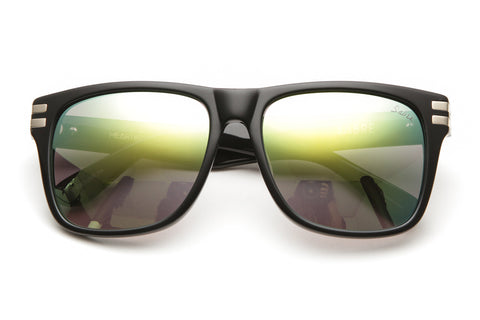 Heartbreaker Sunglasses (Black Gloss/Green Mirror)