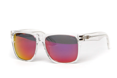 Heartbreaker Sunglasses (Clear/Red Mirror)