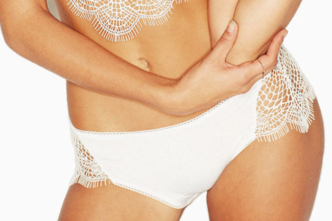 Women's Skivvies Bat Your Lashes Panty (White)