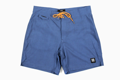 Men's Unstatic Mid Board Shorts (Shade Blue)