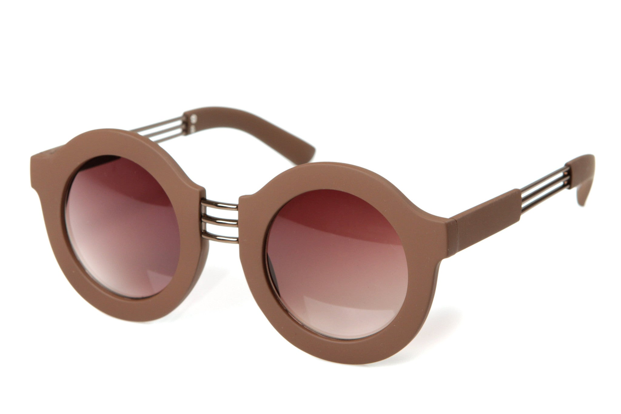 Dakota Rounded Frame Matte Finished Sunglasses