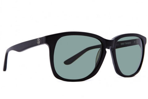 Zoey Sunglasses (Matte Black/Green Grey)
