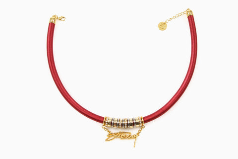 Women's Stussy Charm Necklace (Red)
