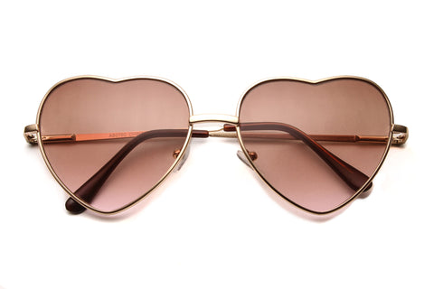 Carly Heart Framed Ombre Sunglasses