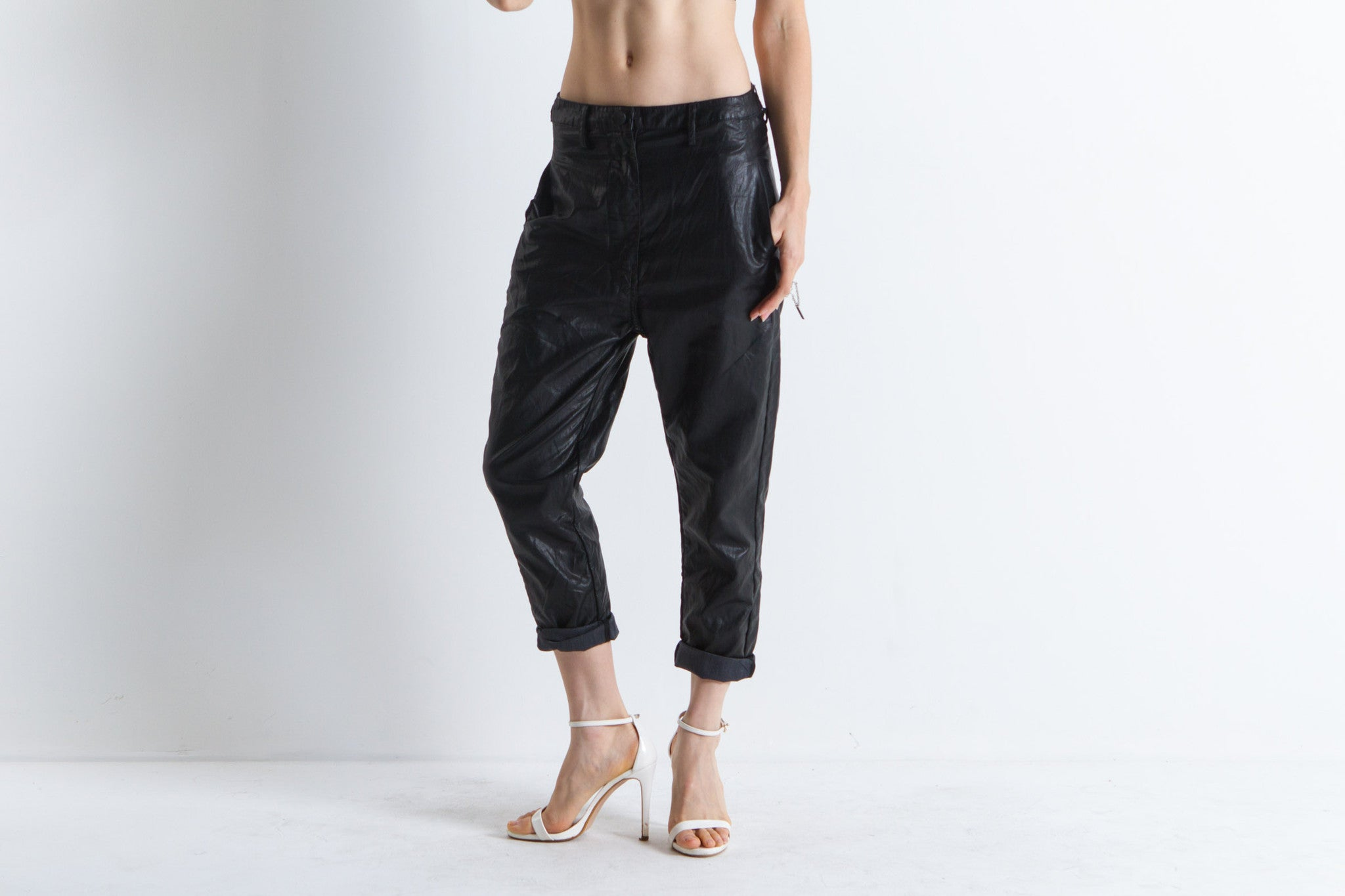 Maeve Leather Pants (Black)
