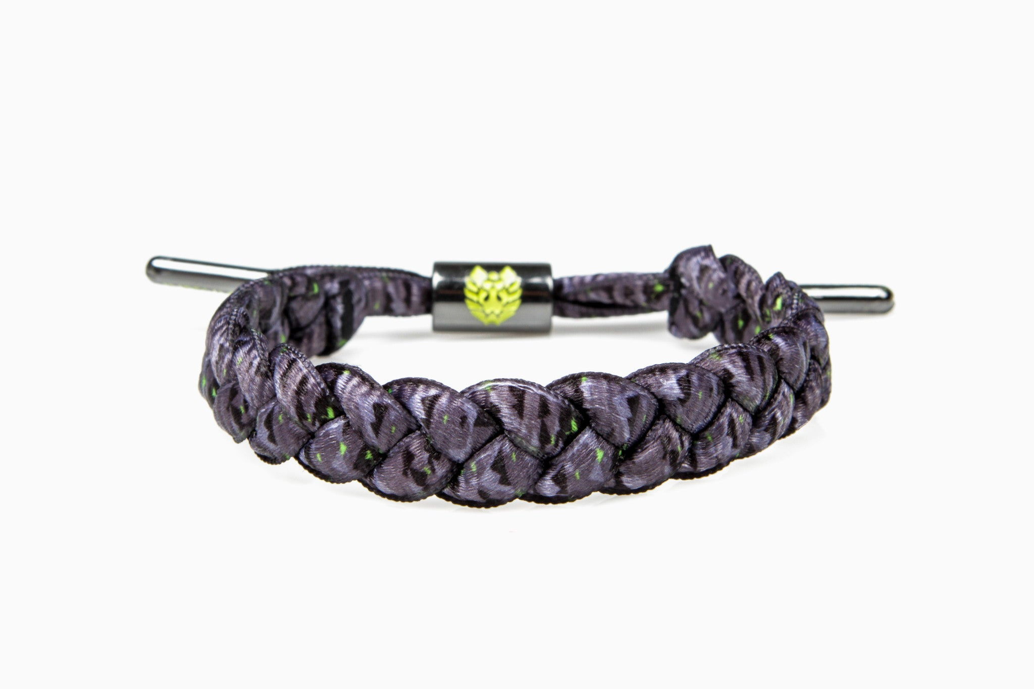 Dew Mountains Shoelace Bracelet (Black/Grey/Lime)