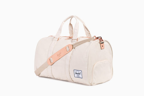 Novel Cotton Canvas Duffle Bag (Natural)