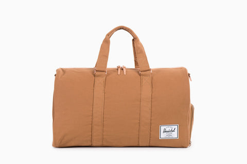 Novel Cotton Canvas Duffle Bag (Caramel)