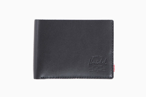 Miles Premium Leather Wallet (Black)