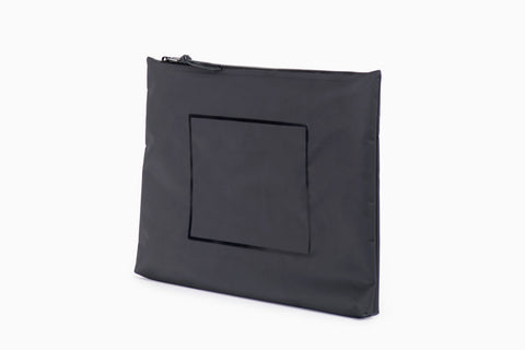 Folio XL Pouch (Black Tarpaulin)