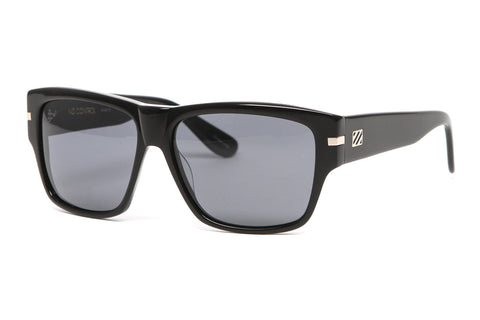 No Control Sunglasses (Black Gloss/Grey Polarized)