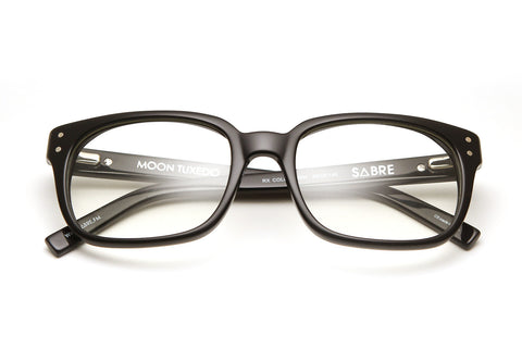 Moon Tuxedo Optical Glasses (Black Gloss/Clear)