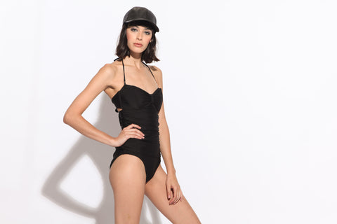 Women's Prom Retro One Piece Swimsuit (Black)