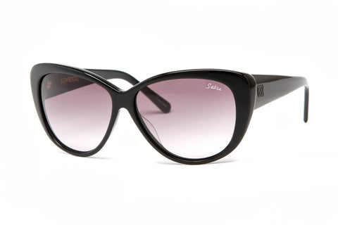 Lovedoll Sunglasses (Black Gloss/Grey Gradient)