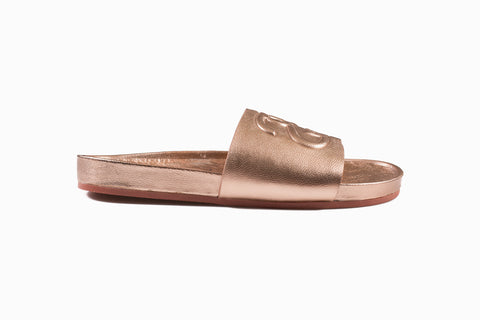 SS Link Slide Sandal (Rose Gold)