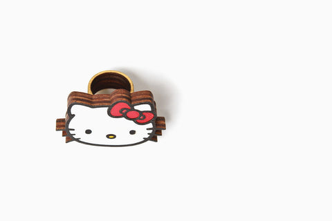 Women's Sanrio Flat Laminate Hello Kitty Ring (More Colors)