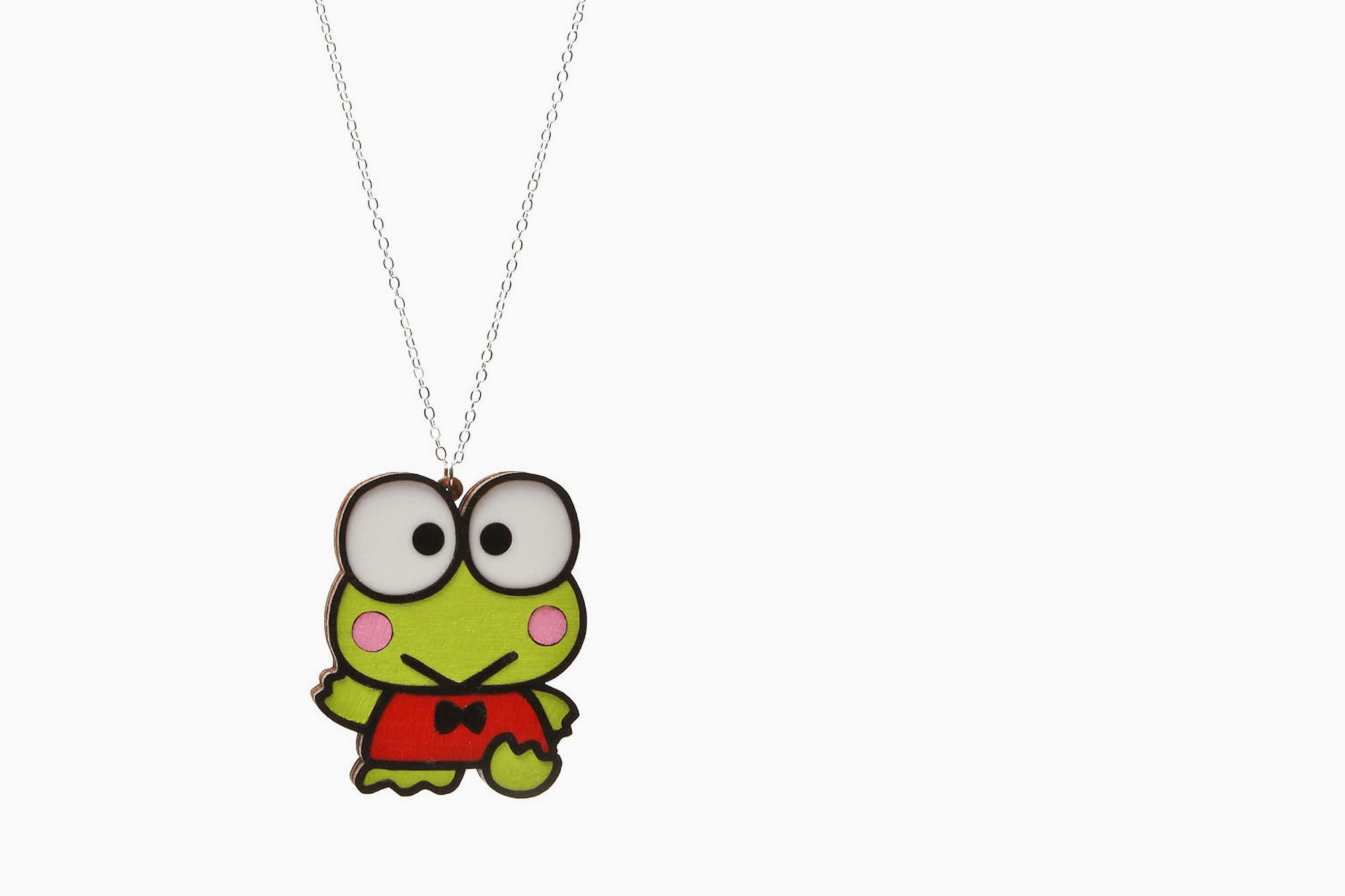 Women's Sanrio Flat Laminate Kerropi Necklace (Green)