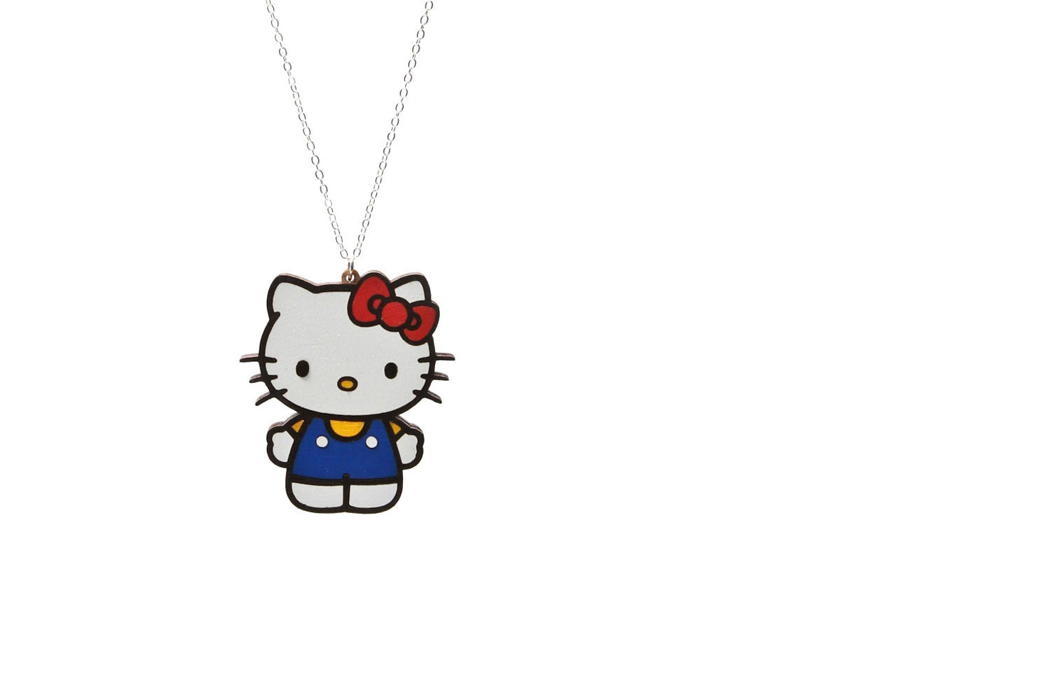 Women's Sanrio Flat Laminate Hello Kitty Necklace (White)