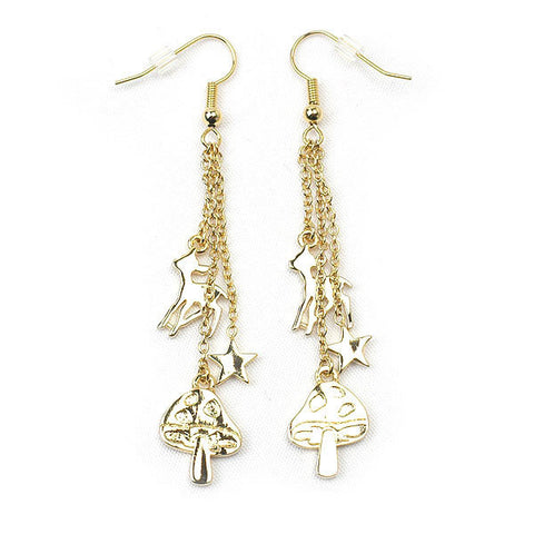 Mushroom Earrings (Gold)