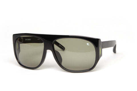 Black Wrap WIndow Sunglasses (Black/Silver)