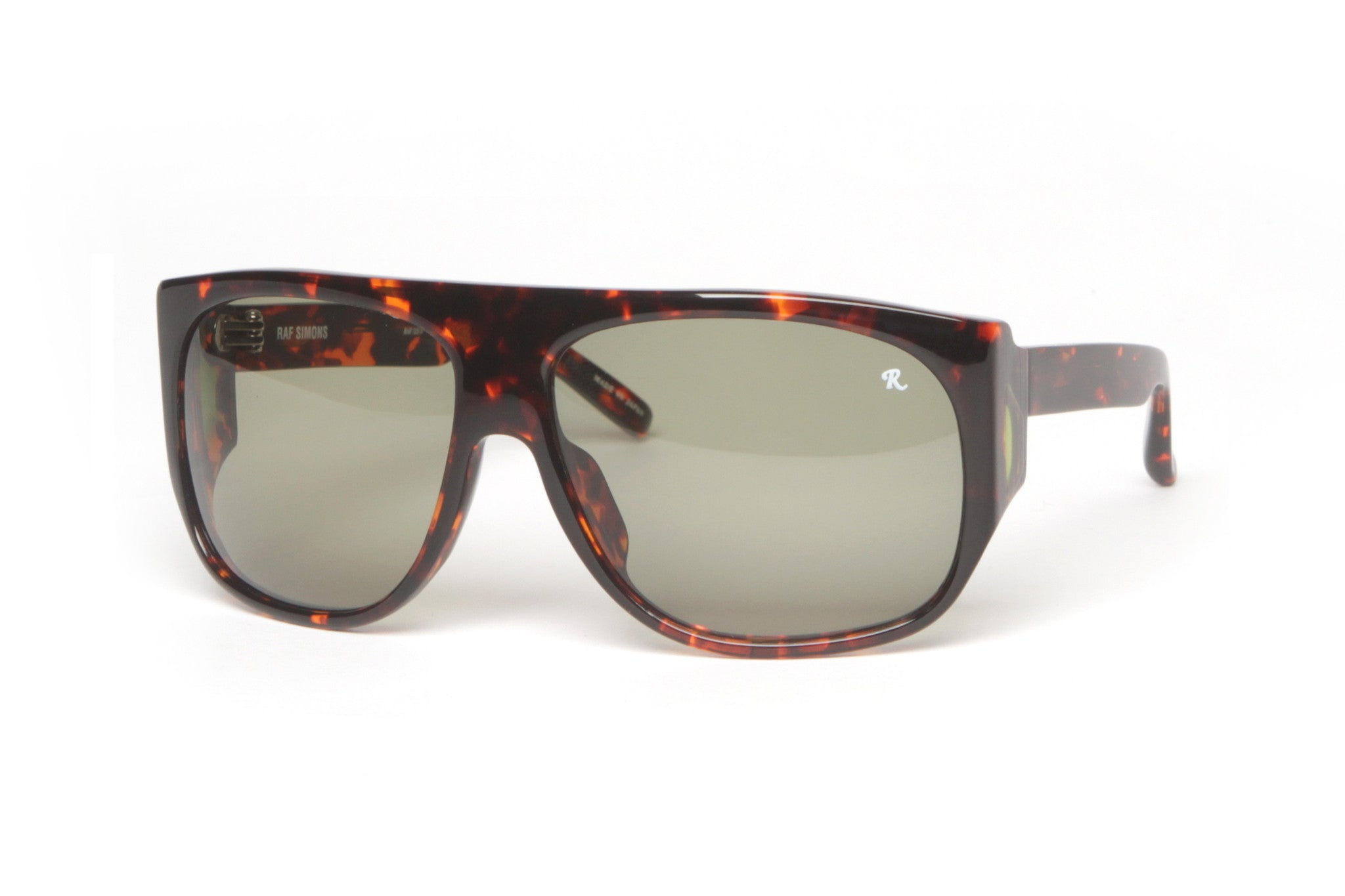 Amber T-Shell Wrap WIndow Sunglasses (Tortoise)