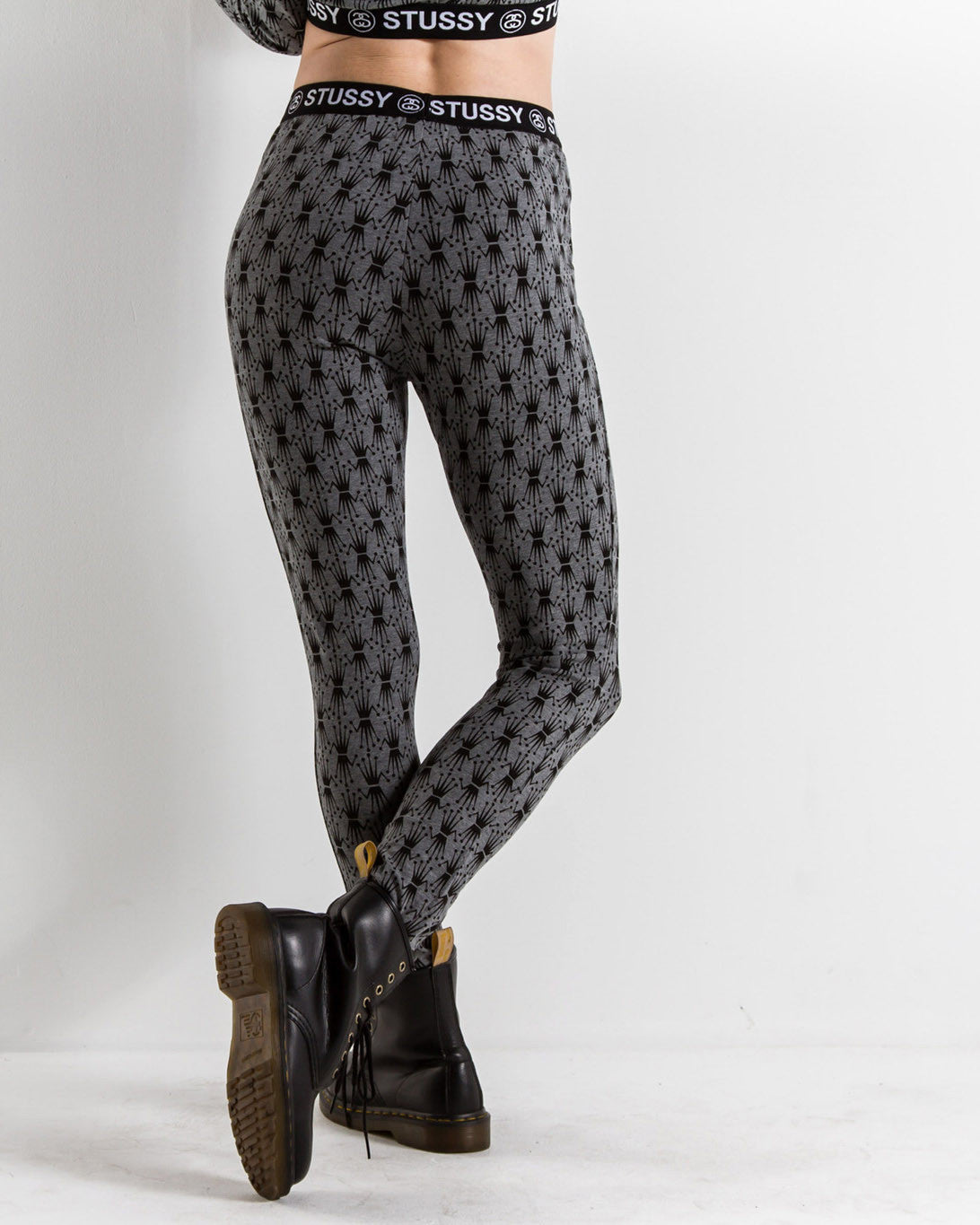 Women's Banded Leggings (Heather Grey)