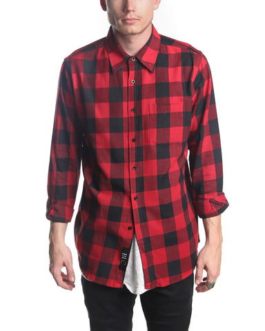 Long Sleeve Check Shirt (Red)