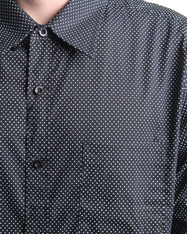Long Sleeve Polka Dot Shirt (Black)